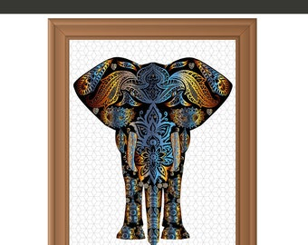 Proud African Elephant' Batik Wall Hanging (Ghana) - Free Shipping ...