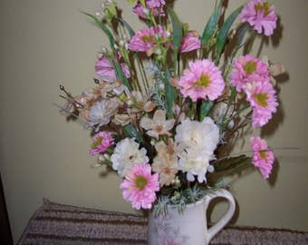 coffee mug floral arrangement