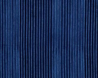 SALE Michael Miller Fabrics, Laura Gunn Edges in Indigo 100% cotton fabric 1 yard