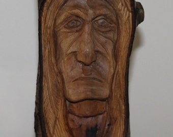 Wood Spirit, Native Nmerican Indian Hand carved