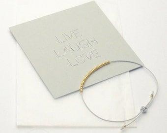 Bracelet - LIVE LAUGH LOVE - Light Gray