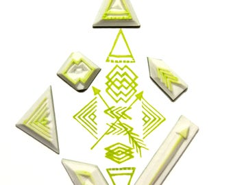 Geometry rubber stamp.Triangle rubber stamp. Arrow rubber stamp. Abstract rubber stamp.Striped rubber stamp.Rhombus rubber stamp.