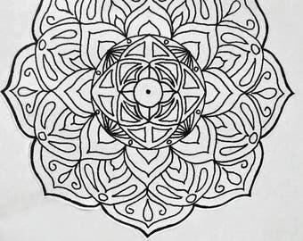 Mandala Sticker, Bullet Journal Sticker, Bujo Sticker, Planner Sticker, Hand Drawn, Planner Accessories, Adult Coloring, Stress Relief