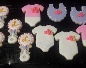 Gluten free baby shower cookies, 1 doz.