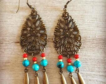 Ethnic earrings Aponiwii