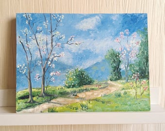 Spring Landscape Oil Painting / Original Oil Painting on Canvas