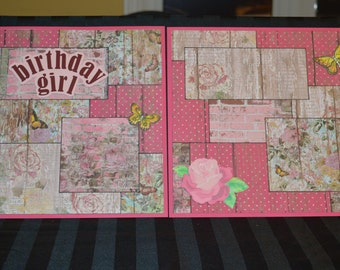 Birthday Girl Scrapbook page kit
