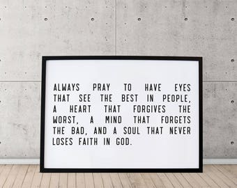 PRINTABLE: Always Pray