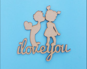 Decorative Lettering I Love You