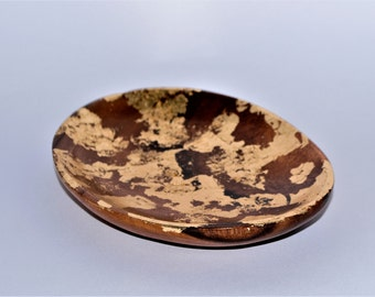 Teak Gold foiled trinket bowl