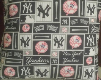 "NY Yankees Throw Pillow - NEW 16"" x 16"" (Made to Order also available)"