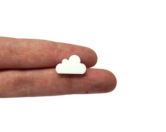 Cloud mini x20, Cloud earring supplies, cloud earring, cloud bijoux, little clouds earrings, cloud clip lasercut wood plexiglas - SET 20 pz