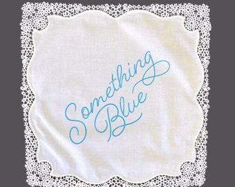 Something Blue Lace Handkerchief