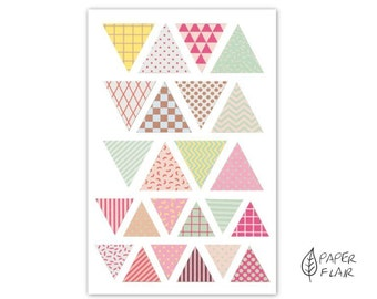 96 Washi tape sticker foil triangle (RD35)
