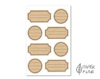 32 sticker label kraft paper (RD15)