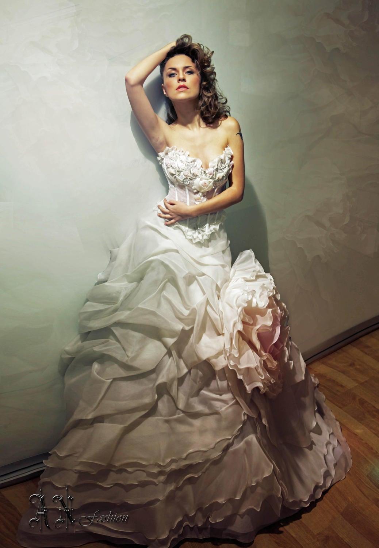 Ball Gown Silk Wedding dress Princess Bridal Dress