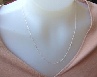 Sterling Silver Chain 20 inch, 1.2mm sterling silver necklace , Sterling Silver necklace, 925 silver, delicate chain