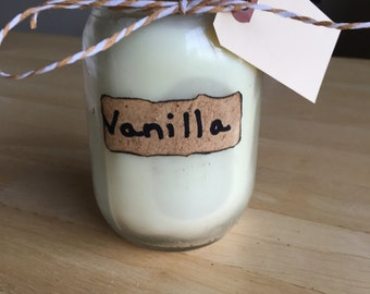 Vanilla Soy Candle, Chakra Balancng,Sacral, Anxiety Relief
