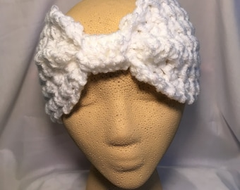 Ear Warmer in Sparkly White