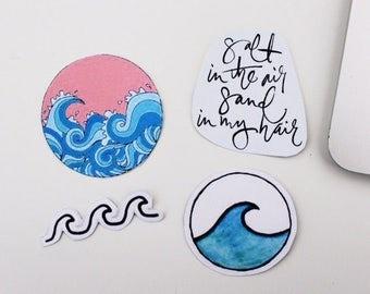 Ocean salt sticker collection (pack of 4)