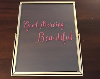 Good morning beautiful picture frame