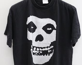 Vintage MISFIT Black Tee T Shirt Size XL