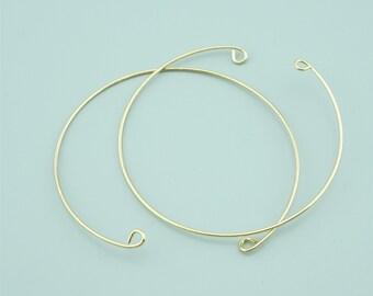 5pcs 1mm Gold Brass Bangle,Open Bracelet Cuff,Brass Bracelet Cuff,Open Bangle CZ009