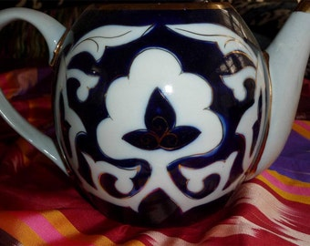 Uzbek ceramic tea pot pakhta new!!!