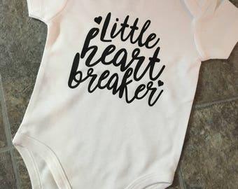 Little Heartbreaker Bodysuit, Little, Heartbreaker, Baby Clothing, Infant Clothing, New Baby Bodysuit, Baby Shower, Gift, Baby Boy Bodysuit
