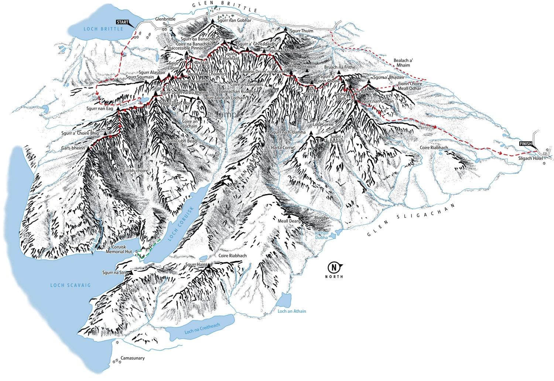 3D map of The Cuillin Ridge on the Isle of Skye