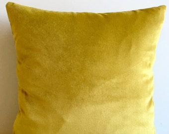 Mustard Velvet Pillow Cover, Pillow Velvet, Mustard Pillow, Designer Pillow, Velvet Pillows, Velvet Cushion Covers, Mustard Sofa Pillow