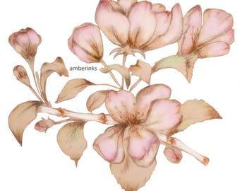 SAKURA FLOWER PRINT