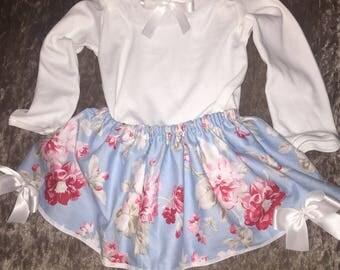 Blue Floral Skirt/Dress