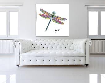 Dragonfly Wall Art by Gogimogi