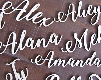 CUSTOM TIMBER PLACECARDS, personalised wooden name place cards for wedding, function, or dinner party