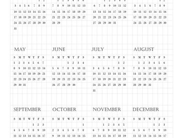 2016, 2017, and 2018 Annual Calendars Printable