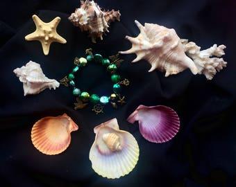 Sea dream beaded bracelet with pendants