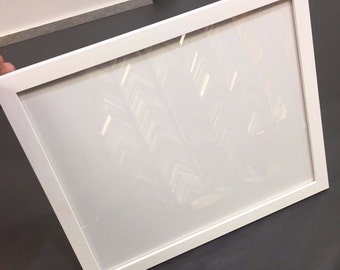 Solid Wood Picture Frame - White Studio Frame - Handmade in New York!