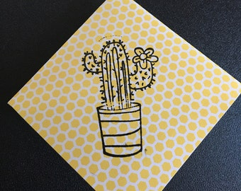stamped corner book mark