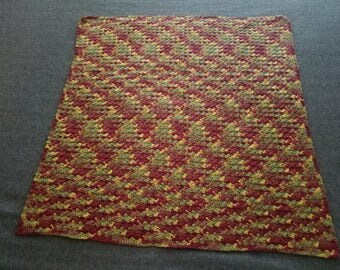 Autumn Colored Crocheted Throw