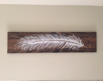 hand painted feather