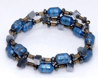 Royal Decree (Upcylced Paper Bead Bracelet/HP0085)