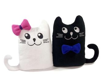 Cute kittens toys | Cat pillows | Black and white kittens - SoftDecor