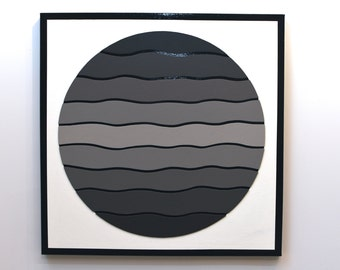 Shades of Grey 5 - original contemporary mixed media painting of wood and acrylic on canvas