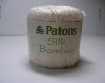 Patons Silk and Bamboo yarn in Ivory 1 ball