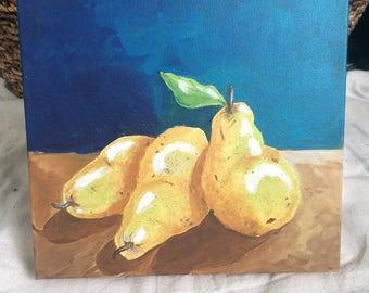 Pears in Acrylic