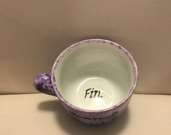 Blah blah coffee cup porcelain tea cup