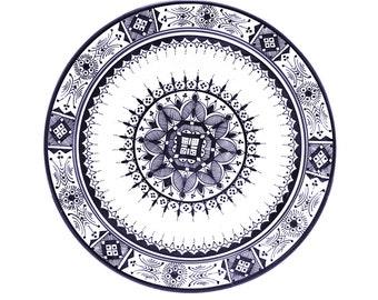 Atlas Plate, Blue