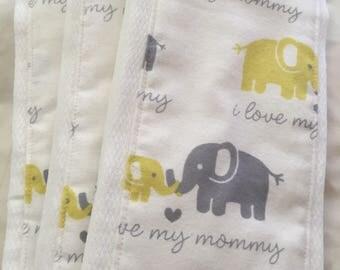 I Love Mommy Burp Cloths
