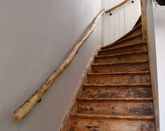 Stair railings of driftwood on size Custom made